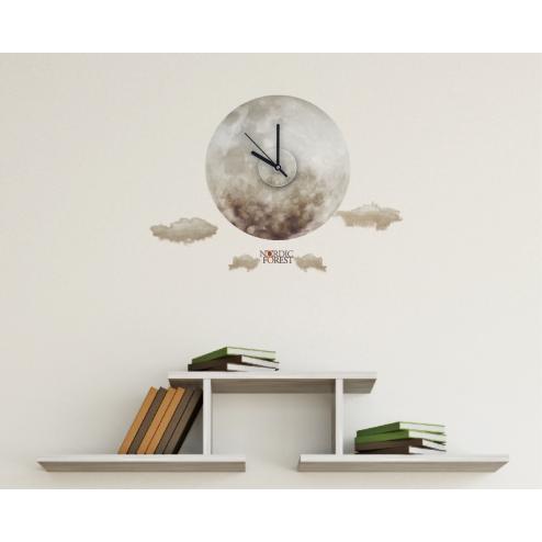 CLI163 北歐風格系列時鐘壁貼-圓月