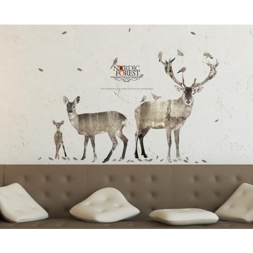 GI162 北歐風格系列創意壁貼-鹿