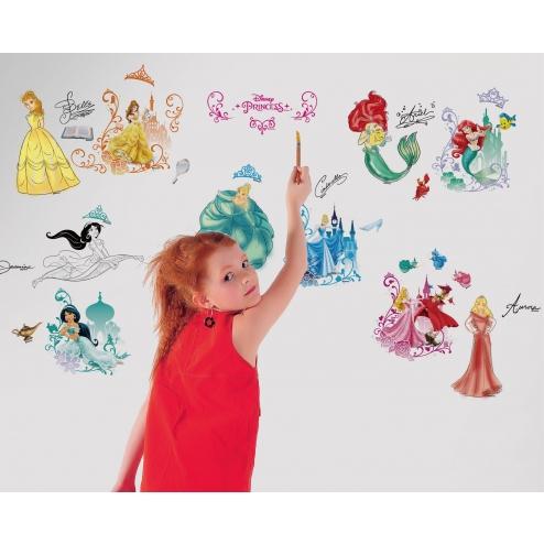 DRID003迪士尼-夢幻公主著色壁貼