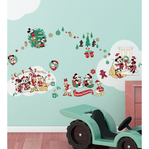 GID032迪士尼-米奇好朋友聖誕壁貼