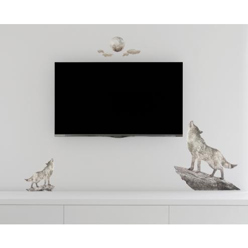GI165 北歐風格系列創意壁貼-狼嚎月